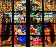 1847 νεκρό DOM Γερμανία καθεδρικών ναών της Βαυαρίας το byking γυαλί Χριστού Κολωνία ι του υπόλοιπα πένθους μητέρων περιτυλίξεων  Στοκ Εικόνα