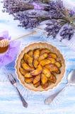 Νεκταρίνι tarte με lavender και το μέλι Στοκ Φωτογραφία