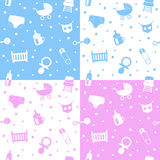 Νεογέννητα άνευ ραφής πρότυπα Στοκ εικόνες με δικαίωμα ελεύθερης χρήσης
