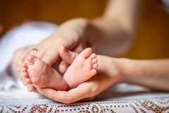Νεογέννητα πόδια μωρών Στοκ εικόνα με δικαίωμα ελεύθερης χρήσης