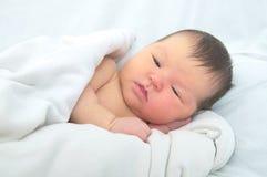 Νεογέννητος ίκτερος, πορτρέτο μωρών στοκ εικόνες