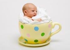 νεογέννητος επισημασμένος κίτρινος φλυτζανιών Στοκ φωτογραφία με δικαίωμα ελεύθερης χρήσης