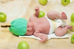 Νεογέννητο μήλο Στοκ Εικόνες