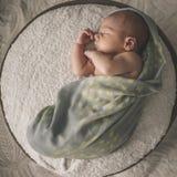 Νεογέννητο μωρό που καθορίζει τον ύπνο Στοκ εικόνες με δικαίωμα ελεύθερης χρήσης