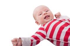 Νεογέννητο πορτρέτο μωρών που απομονώνεται στο άσπρο υπόβαθρο Στοκ Εικόνες