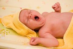 νεογέννητο χασμουρητό αγ Στοκ Εικόνες