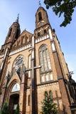 Νεογοτθική εκκλησία ύφους σε Sadowne στην Πολωνία Στοκ Εικόνες