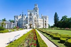 νεογοτθικό NAD Vltavou Hluboka κάστρων ύφους tudor και γαλλικό πάρκο, νότια Βοημία, Τσεχία Στοκ φωτογραφία με δικαίωμα ελεύθερης χρήσης