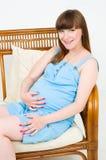 νεολαίες έγκυων γυναι&kapp στοκ φωτογραφία με δικαίωμα ελεύθερης χρήσης
