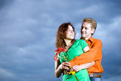 νεολαίες αγάπης ζευγών στοκ εικόνες