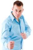 νεολαίες αγοριών fightpose στοκ εικόνα με δικαίωμα ελεύθερης χρήσης