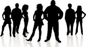 νεολαίες ανθρώπων ομάδας διανυσματική απεικόνιση