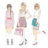 νεολαίες απεικόνισης κοριτσιών μόδας απεικόνιση αποθεμάτων