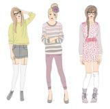 νεολαίες απεικόνισης κοριτσιών μόδας διανυσματική απεικόνιση