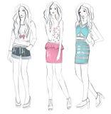 νεολαίες απεικόνισης κοριτσιών μόδας ελεύθερη απεικόνιση δικαιώματος