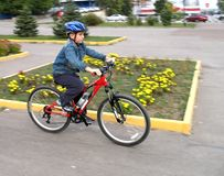 νεολαίες ατόμων ποδηλάτων Στοκ Φωτογραφία