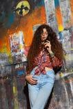 νεολαίες γκράφιτι κορι&tau Στοκ εικόνες με δικαίωμα ελεύθερης χρήσης