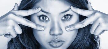 νεολαίες γυναικών έκφρα&si Στοκ εικόνες με δικαίωμα ελεύθερης χρήσης