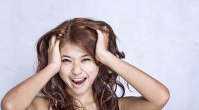 νεολαίες γυναικών έκφρα&si Στοκ εικόνα με δικαίωμα ελεύθερης χρήσης