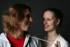 νεολαίες γυναικών ανδρών Στοκ Φωτογραφίες