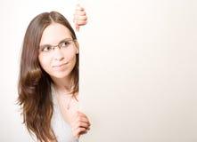 νεολαίες γυναικών αφισών Στοκ φωτογραφία με δικαίωμα ελεύθερης χρήσης
