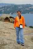 νεολαίες γυναικών βράχο&u Στοκ Εικόνες