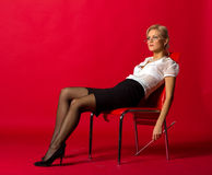 νεολαίες γυναικών δασκ Στοκ Εικόνα
