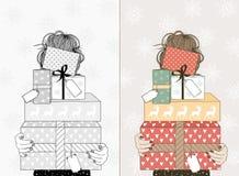 νεολαίες γυναικών δώρων &Ch ελεύθερη απεικόνιση δικαιώματος