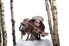 νεολαίες γυναικών ελκή&th Στοκ εικόνα με δικαίωμα ελεύθερης χρήσης