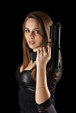 νεολαίες γυναικών πυροβόλων όπλων Στοκ εικόνα με δικαίωμα ελεύθερης χρήσης