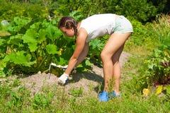 νεολαίες γυναικών σκαπ&al Στοκ Φωτογραφίες