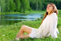 νεολαίες γυναικών φύσης Στοκ Εικόνα