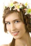 νεολαίες γυναικών χαμόγ&eps Στοκ Εικόνα