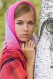 νεολαίες γυναικών alenushka headscarf Στοκ Εικόνες