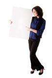 νεολαίες επιχειρησιακών λευκών γυναικών χαρτονιών Στοκ φωτογραφίες με δικαίωμα ελεύθερης χρήσης