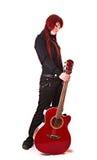 νεολαίες κιθάρων κοριτ&sig Στοκ εικόνες με δικαίωμα ελεύθερης χρήσης