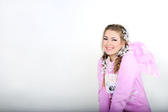 νεολαίες κοριτσιών αγγέ& Στοκ φωτογραφίες με δικαίωμα ελεύθερης χρήσης