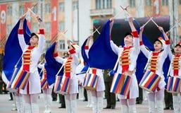 νεολαίες κοριτσιών τυμπ& Στοκ Φωτογραφίες