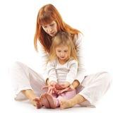 νεολαίες μητέρων κορών Στοκ Φωτογραφίες