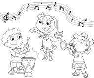 νεολαίες μουσικής ζωνών απεικόνιση αποθεμάτων