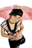 νεολαίες ομπρελών κοριτσιών Στοκ φωτογραφία με δικαίωμα ελεύθερης χρήσης