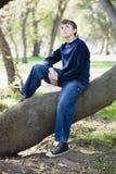 νεολαίες πάρκων αγοριών Στοκ Εικόνες
