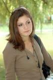 νεολαίες πάρκων κοριτσι Στοκ Φωτογραφία