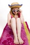 νεολαίες πετσετών κοριτσιών Στοκ Φωτογραφία