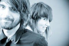 νεολαίες πορτρέτου ζευγών Στοκ Φωτογραφίες