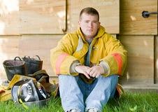 νεολαίες πυροσβεστών στοκ φωτογραφία με δικαίωμα ελεύθερης χρήσης