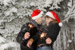 νεολαίες πυροτεχνημάτω&n Στοκ Εικόνα