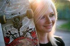 νεολαίες σκέιτερ πορτρέ&tau Στοκ εικόνα με δικαίωμα ελεύθερης χρήσης