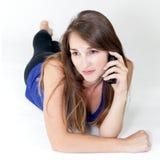 νεολαίες τηλεφωνικών γ&upsi στοκ εικόνες με δικαίωμα ελεύθερης χρήσης