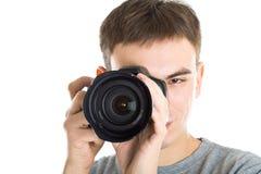 νεολαίες φωτογράφων φωτ& στοκ εικόνα